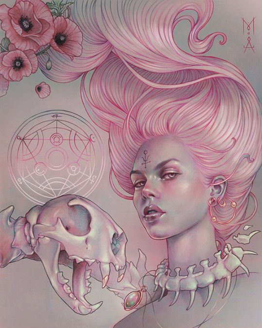 "'Stibion' [Coloured pencil, pen, pastel and Photoshop] by Beautiful Bizarre Magazine issue 017 ON THE RISE artist Marta Adán features exclusively in the current digital edition . So download the FREE ""beautiful bizarre"" APP via iTunes store or Google Play and grab issue 016 for just US$4.99, or pick up a 1 year subscription and save 15% on the cover price! #beautifulbizarre #beautifulbizarremagazine #artmagazine #indiemagazine #newcontemporaryart #contemporaryart #art #drawing #skull…"