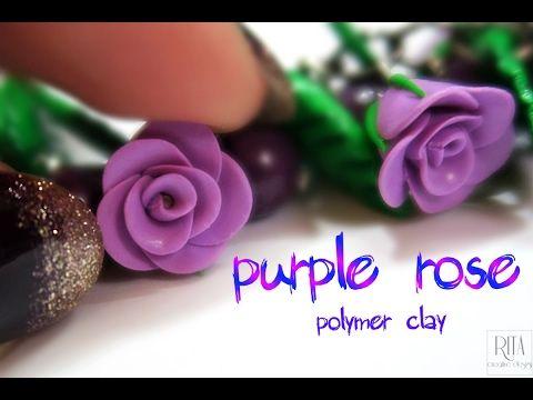 JAK ZROBIĆ RÓŻĘ Z MODELINY   fimo   miniature rose polymer clay - YouTube