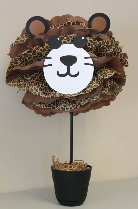 Leopard Cheetah pom pom kit jungle safari by TheLittlePartyShopNY