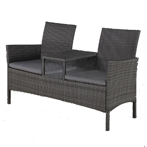 Rattan Garden Two Seater Companion Bench   Connected By A Table In The  Middle   Cushions Included   Garden Rattan Furniture. Best 25  Cheap rattan garden furniture ideas on Pinterest   Cheap