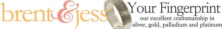 Brent & Jess Custom Handmade Fingerprint Wedding Bands and Jewelry