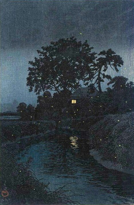 Minuma River in Omiya  -   Kawase Hasui. 1930Japanese   1883 - 1957    Colour Woodblock