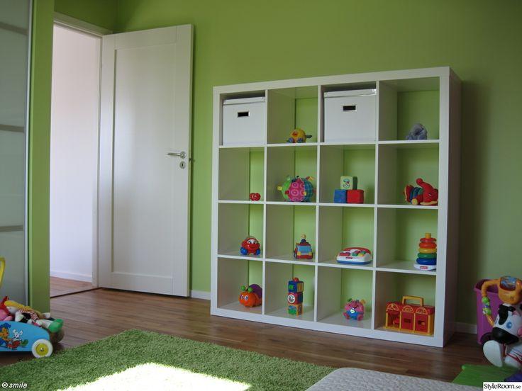 barnrum,grönt,förvaring