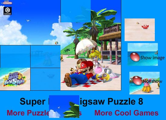 Jigsaw of Mario Bros on the Beach