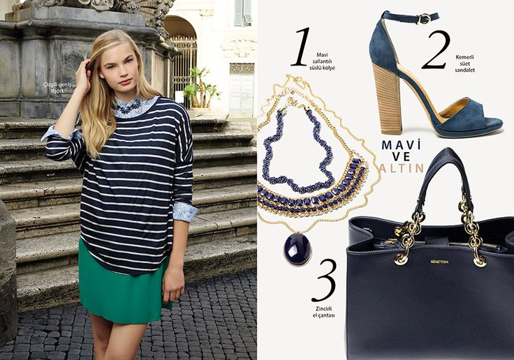 Kadın Kıyafetleri Urban Renkleri Benetton İlkbahar 2015