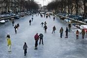 frozen canals in Amsterdam