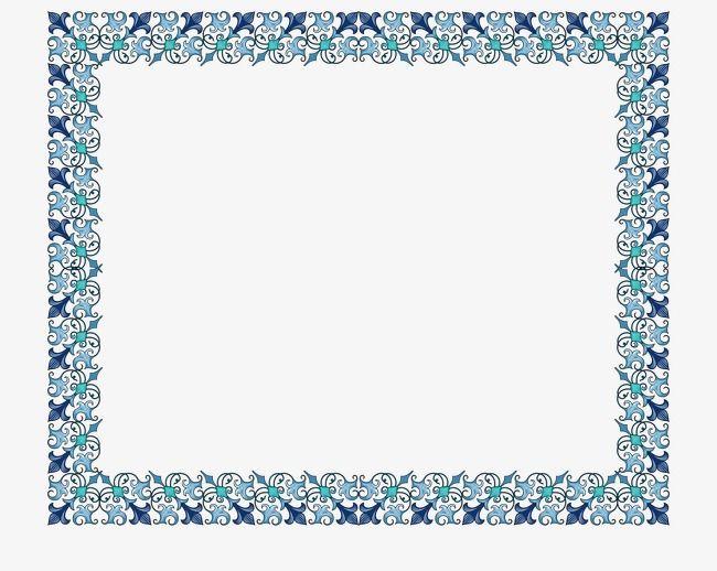 الأزرق حد الشهادة Free Clip Art Printable Border Vector Free