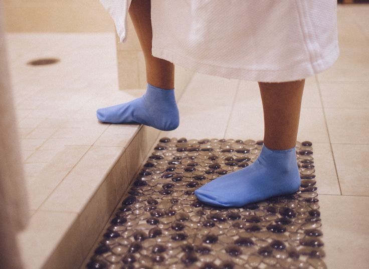 Dreading those dirty locker room floors? Jellyfeet reusable footcovers are perfect for keeping your feet safe and clean!