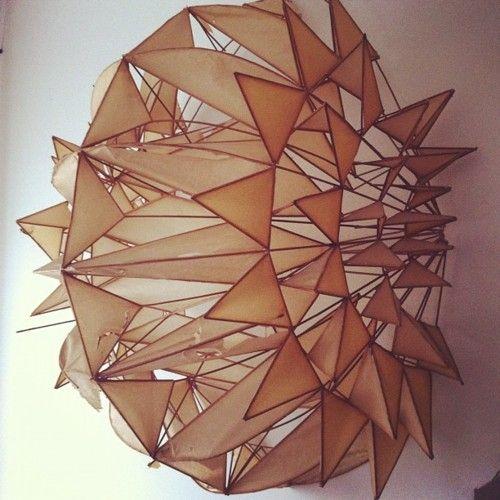 Irving Harper. Great paper sculptures.    graphandcompass:    irving harper (via Instagram)