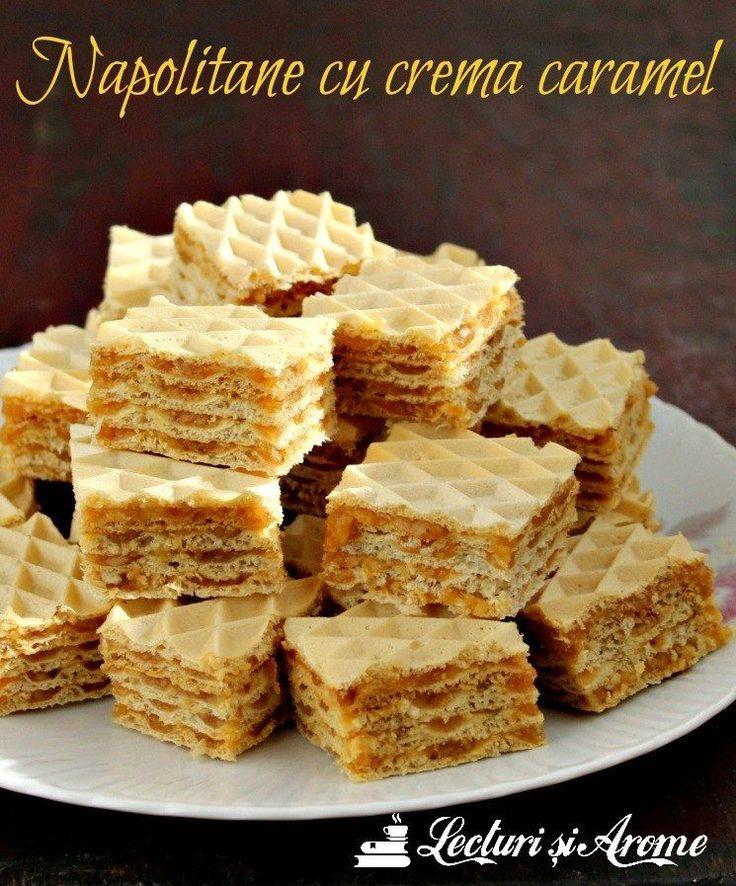 Reteta de napolitana cu crema caramel si nuci este un desert simplu, rapid si usor de facut. Prajitura rapida. Desert spornic