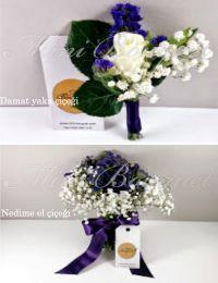 Damat yaka çiçeği ve nedime çiçekleri