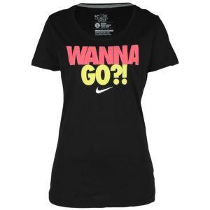 Nike Wanna Go S/S Crew T-Shirt - Women's - Sport Inspired - Clothing - Black