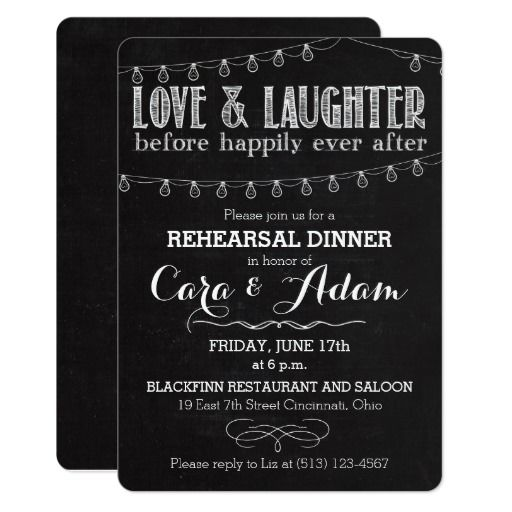 Chalk Style Rehearsal Dinner Invitation 01