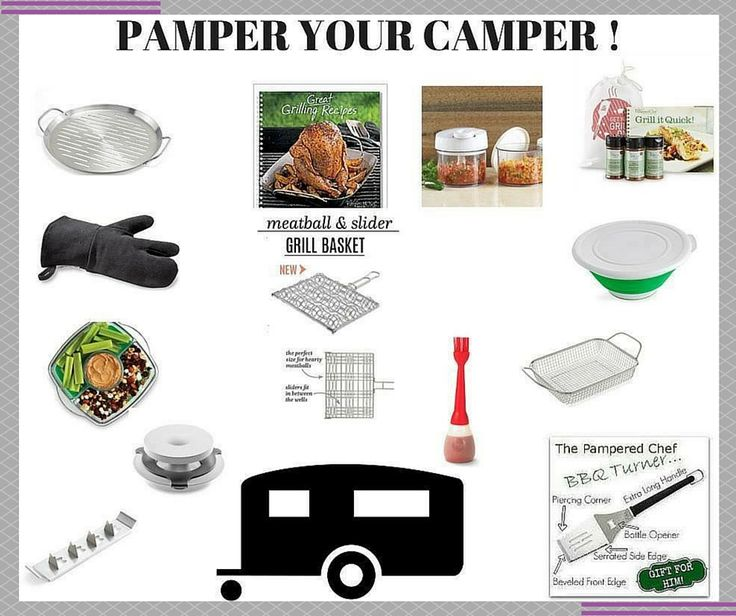 Do you have one more camping trip before school starts? Why not add quality Pampered Chef product to your trip?