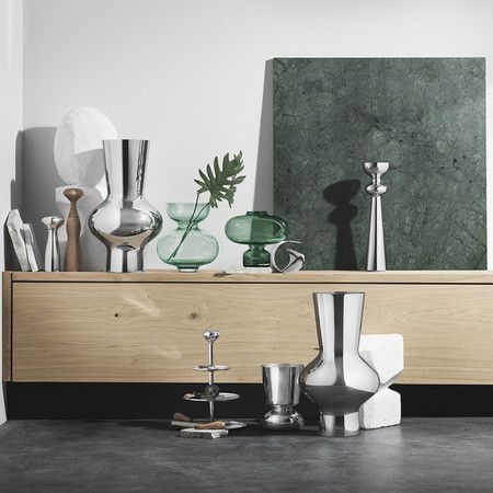 Georg Jensen - Alfredo Vase - Glass - 20cm