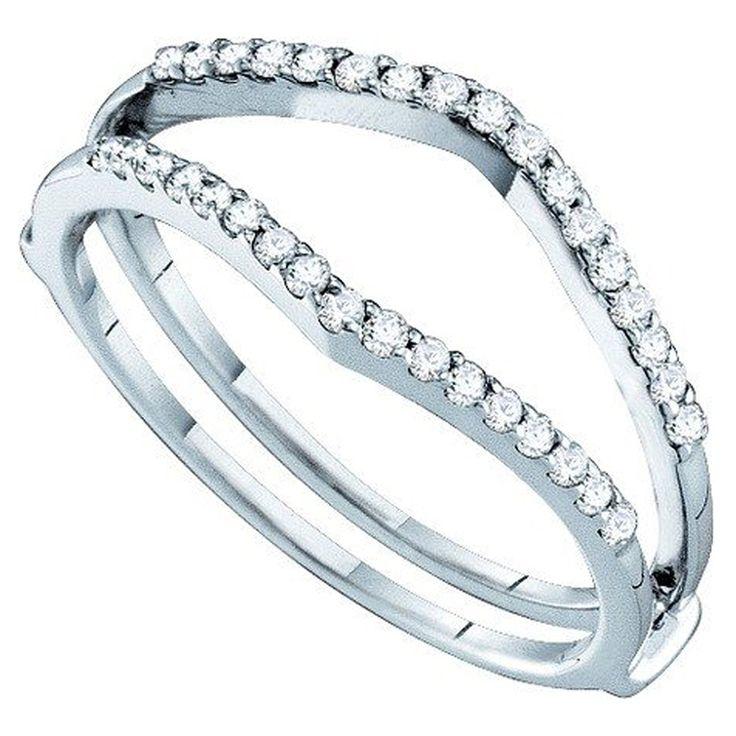 18 best wedding ring wraps images on pinterest solitaire. Black Bedroom Furniture Sets. Home Design Ideas