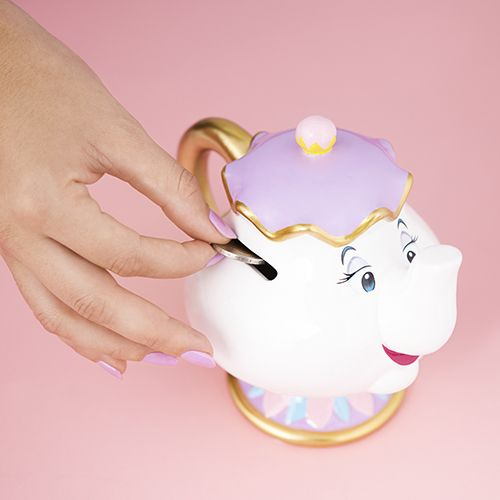 How cute is this Disney Mrs Potts money bank? Look out for Primark's new Beauty and the Beast range!