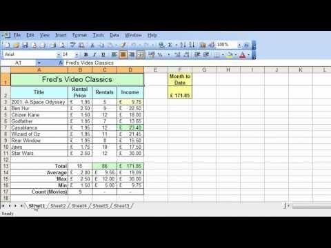 Microsoft Excel Tutorial for Beginners #31 - Worksheets Pt.1 - Multiple Worksheets - YouTube