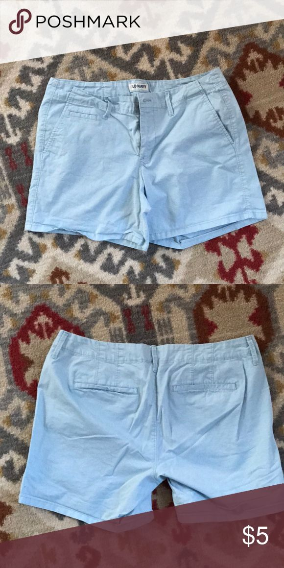 "Old Navy Blue Khaki shorts. women's size 8 Robins egg blue Old Navy Women's Shorts. Size 8. Only worn once. 5"" inseam. Old Navy Shorts"
