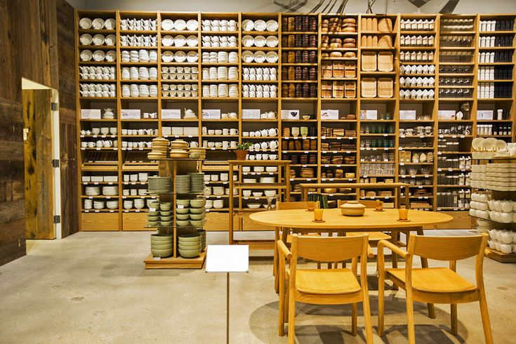 check out this store's shelves. 24 Photos! Inside MUJI's Mindblowing US Flagship in Hollywood