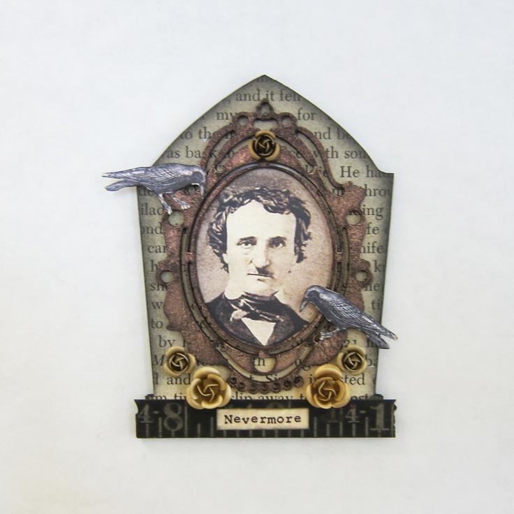 Edgar Allan Poe Halloween Tombstone/Shrine