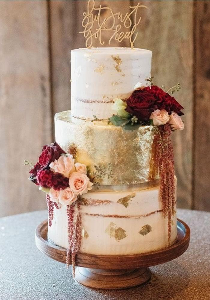Autumn Wedding Cake And Topper Ideas Cake Decoration Wedding