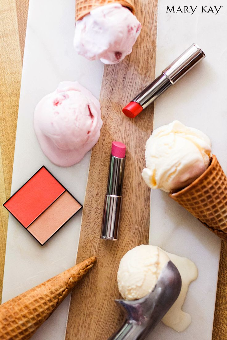 What ice cream flavor calls your name when the temperature rises? We're pretty partial to perfectly pink strawberry! | Mary Kay