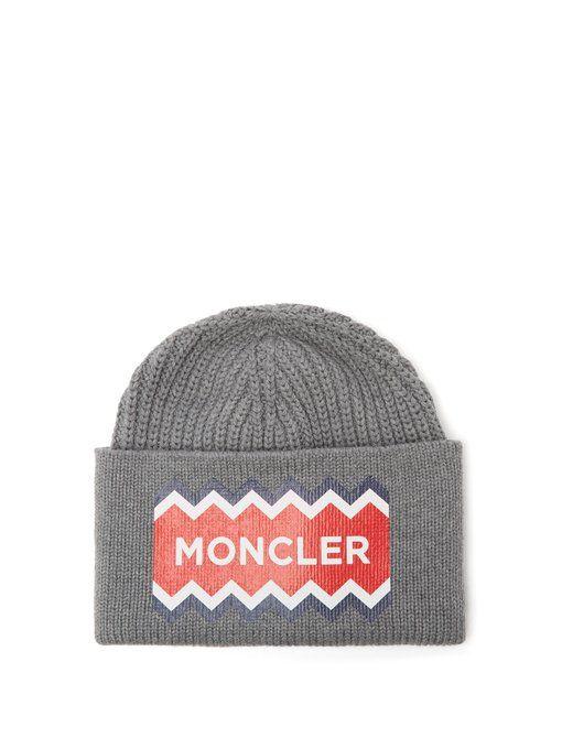 Moncler Wool logo-print beanie hat  244574021ea