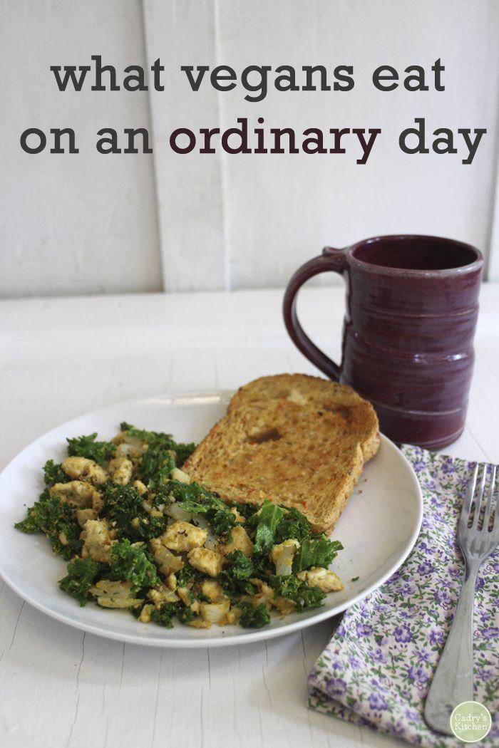 What vegans eat on an ordinary day - Breakfast through dinner | cadryskitchen.com #vegan @cadryskitchen