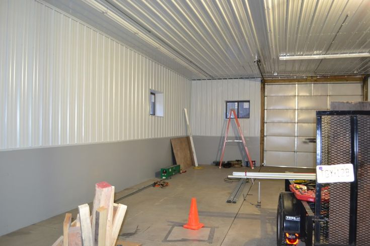 Corrugated metal panel ceiling metal roofing siding for Garage roofing options