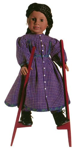 AG Doll Collecting - Addy and her stilts, one of the many sadly discontinued accessories
