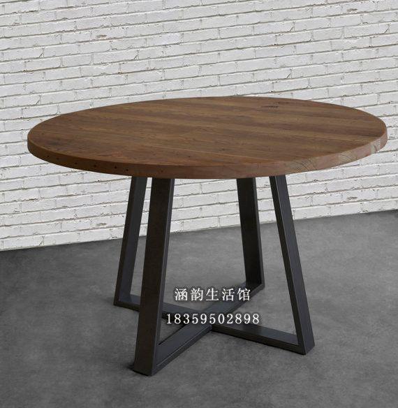 Las 25 mejores ideas sobre mesas redondas de madera en for Mesas de comedor de vidrio redondas