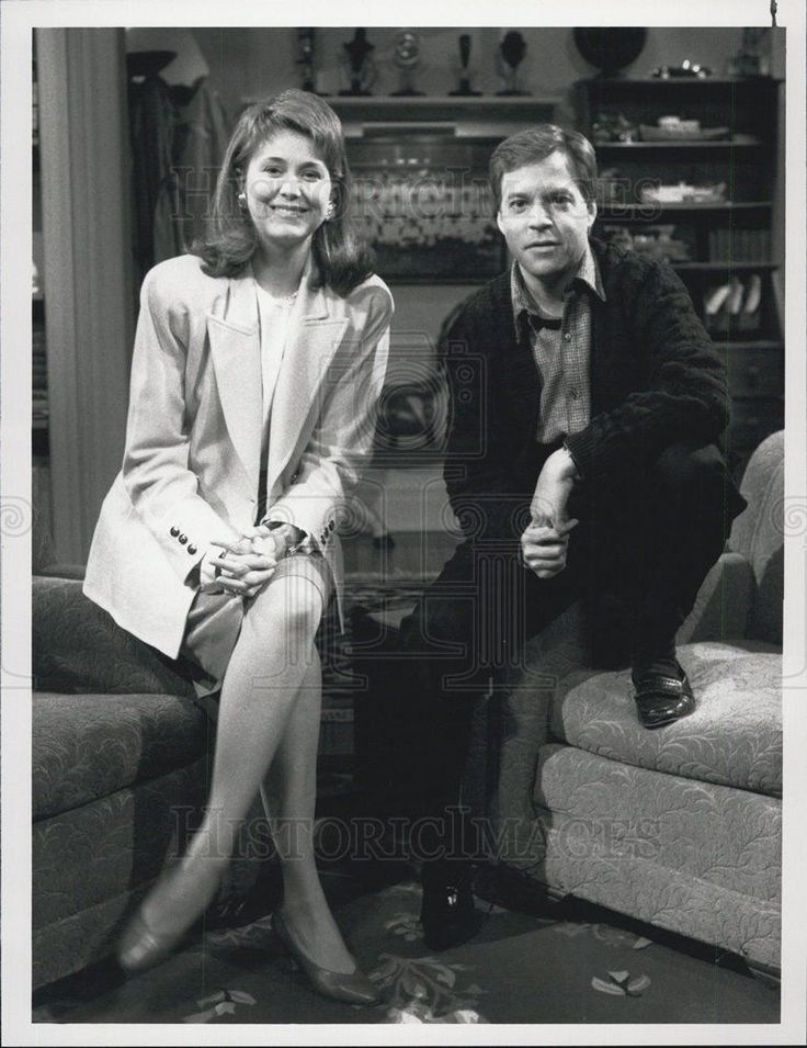 1988 Press Photo Bob Costas Jane Pauley Later With Bob Costas