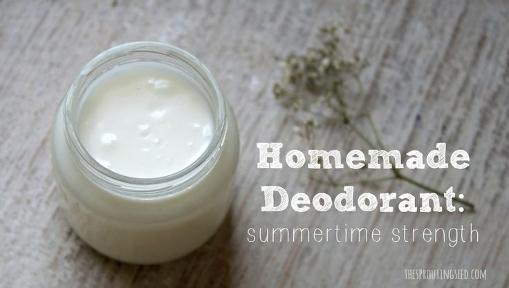 homemade deodorant thesproutingseed.com-The must try natural deodorant for summer when Tom's isn't strong enough