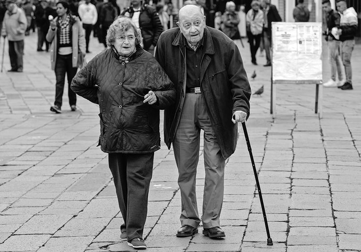 Old couple, Burano, Venice. By Richard Farland.