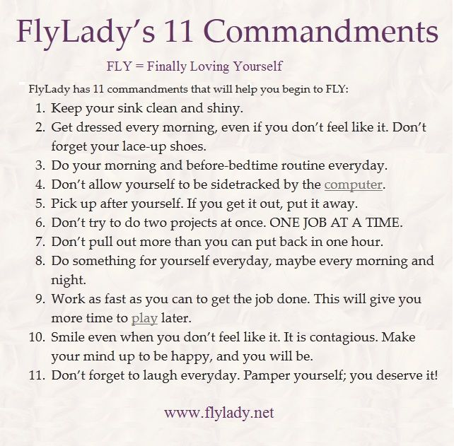 flylady net great motivation to clean