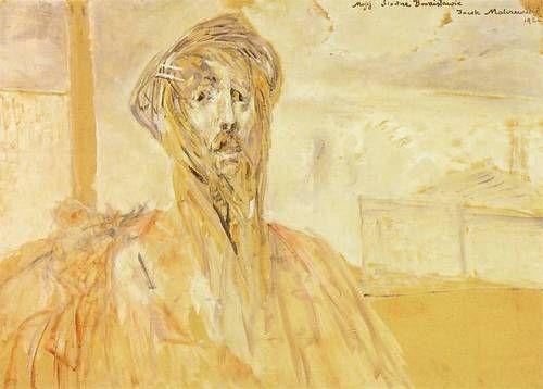 Jacek Malczewski (Polish, 1854-1929), Self-portrait (sketch), 1926. Oil on canvas. 73 x 102 cm. Muzeum Narodowe, Warsaw.