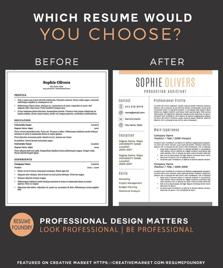 88 best Professional Resume Template images on Pinterest Resume - Eye Catching Resume