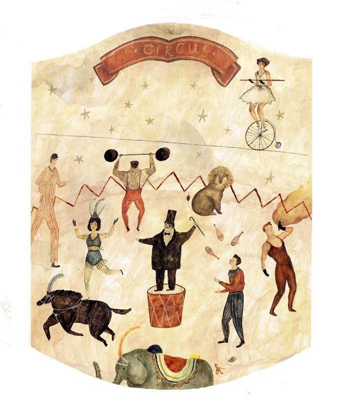 Roll up, Roll up   katie harnett #illustration #circus