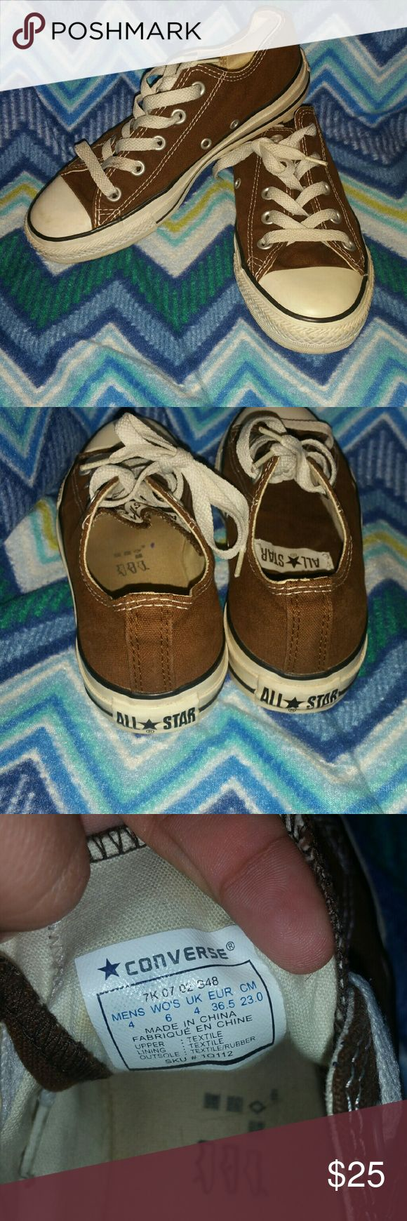 Brown converse Very condition  Size 4 mens  6 women's  Didn't get much wear out of them Converse Shoes
