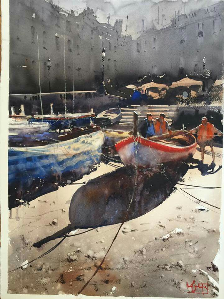 Vernazza II Cinque Terre Italy Alvaro Castagnet 75 x 56 Watercolour