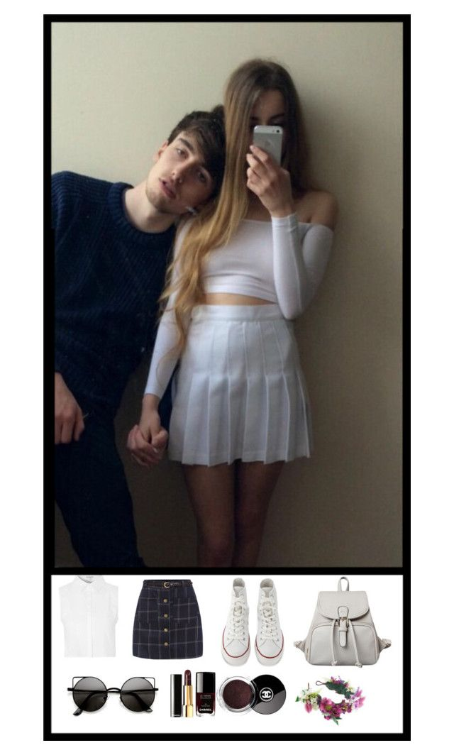 """""""- lottie"""" by dash-of-crimson ❤ liked on Polyvore featuring Glamorous, Converse, Chanel and Rock 'N Rose"""