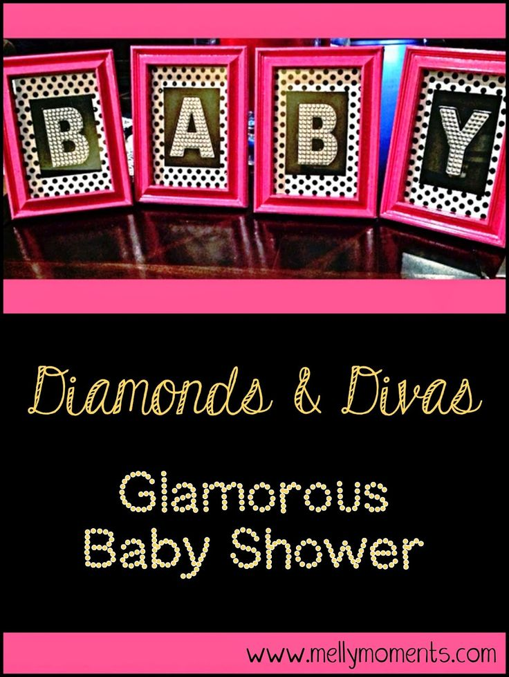 Glamorous, chic, and sparkly baby shower for a little princess! Come check out the decorations that are girly, PINK, and full of rhinestones and tons of bling! (Melly Moments Blog)!