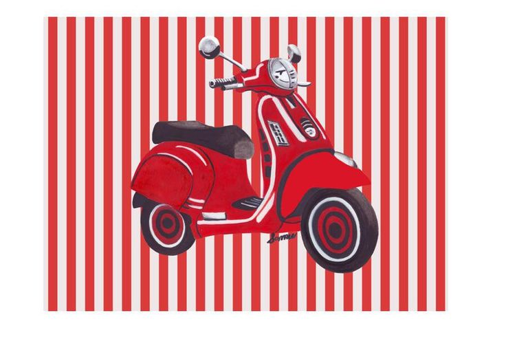 A personal favorite from my Etsy shop https://www.etsy.com/listing/529874231/retro-scooter-digital-down-loadable