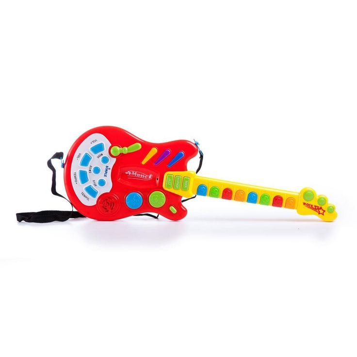 Amazon.com: Toy Electric Guitar with over 20 Interactive Buttons, Levers and Modes with Sound and Lights by Dimple: Toys & Games