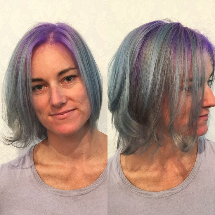 Pastel Purple and Pastel Blue Mermaide Hair  www.chillicouture.com.au