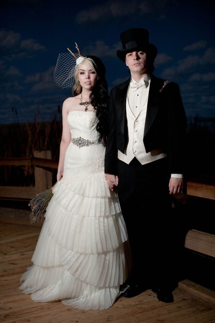 Antlers and top hats and dinosaurs, oh my! A natural history museum wedding via @Offbeat Bride