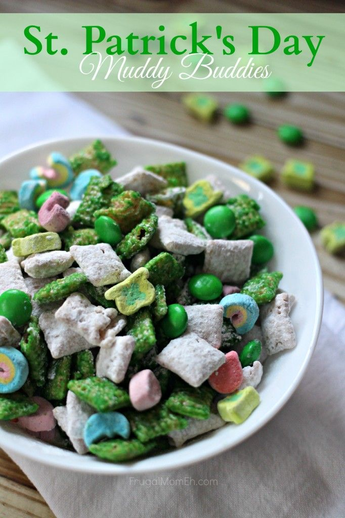 St. Patrick's Day Muddy Buddies - Frugal Mom Eh! totally making this for Katie's birthday!