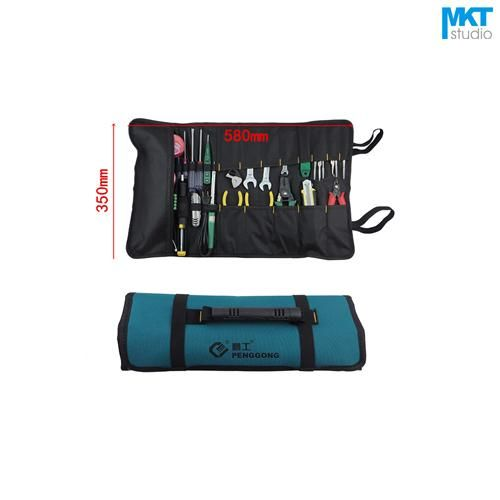 [Visit to Buy] 1Pcs Drum type Blue 58x35cm Oxford Cloth Durable Waterproof Tools Container Storage Waist Bag With Belt,Electrical Tools Bag #Advertisement