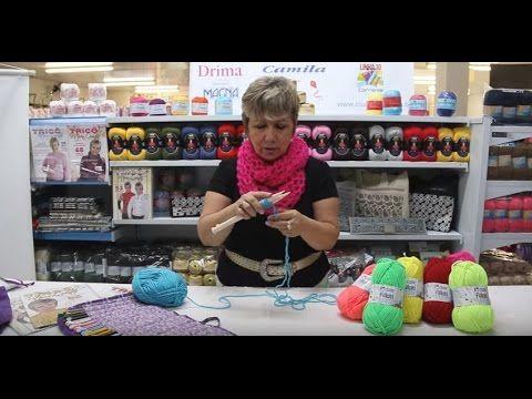 Vitória Quintal no Armarinho São José - Tutorial de cachecol com Cisne Fillati - YouTube